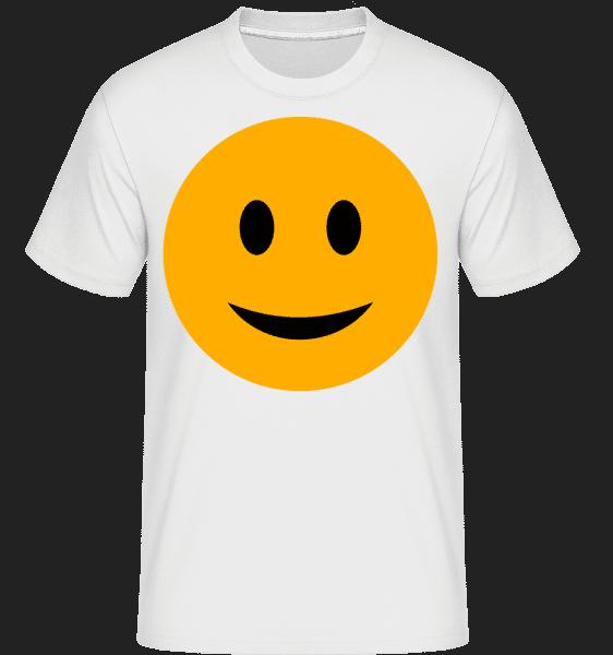 Happy Smiley -  Shirtinator Men's T-Shirt - White - Vorn