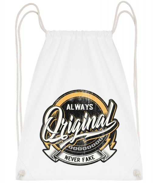 Always Original - Drawstring Backpack - White - Vorn