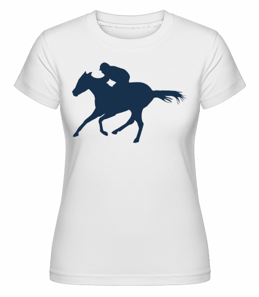 Horse Riding Blue -  Shirtinator Women's T-Shirt - White - Vorn
