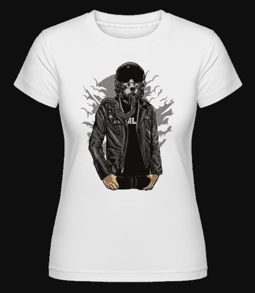Sky Fighter -  Shirtinator Women's T-Shirt - White - Vorn