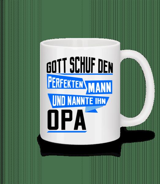 Opa Perfekter Mann - Tasse - Weiß - Vorn