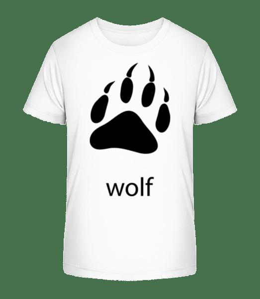 Wolf Paw - Kid's Premium Bio T-Shirt - White - Vorn