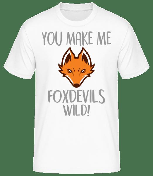 You Make Me FOXDEVILSWILD - Männer Basic T-Shirt - Weiß - Vorn