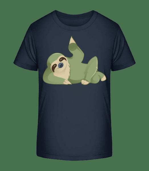 Sloth Beckons - Kid's Premium Bio T-Shirt - Navy - Vorn