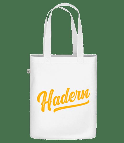 Hadern Swoosh - Bio Tasche - Weiß - Vorn