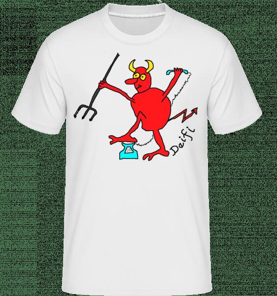 Deifl - Shirtinator Männer T-Shirt - Weiß - Vorn