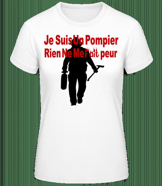 Je Suis Pompier - T-shirt standard Femme - Blanc - Vorn