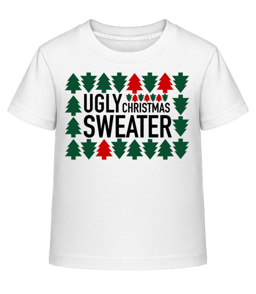Ugly Christmas Sweater - Kid's Shirtinator T-Shirt - White - Front