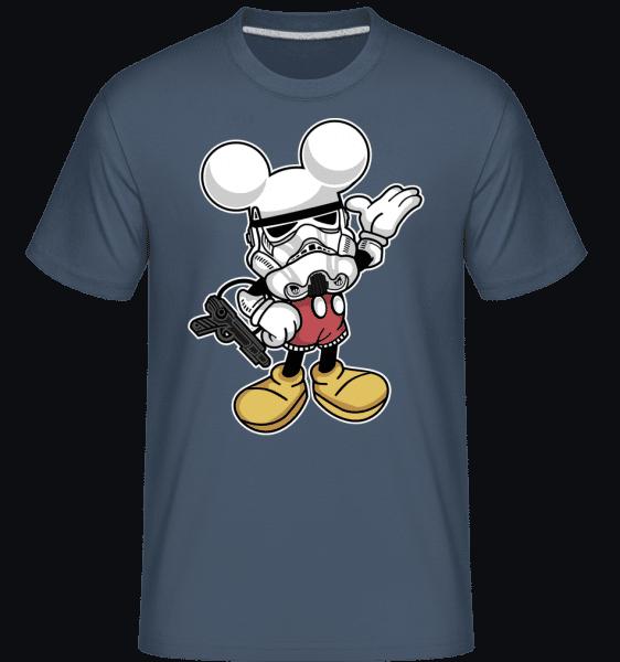 Mickey Trooper -  Shirtinator Men's T-Shirt - Denim - Vorn