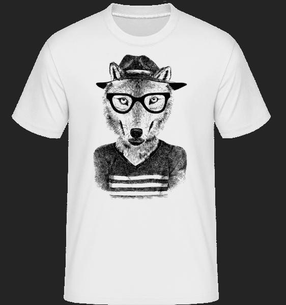 Hipster Fox -  Shirtinator Men's T-Shirt - White - Vorn