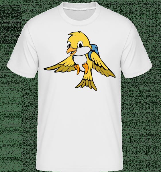 Cute Bird With Bag -  Shirtinator Men's T-Shirt - White - Vorn