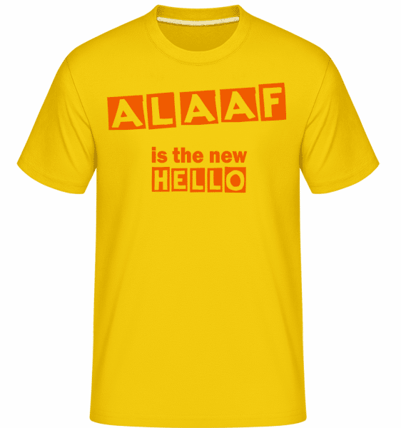 Alaaf Is The New Hello -  Shirtinator Men's T-Shirt - Golden yellow - Vorn
