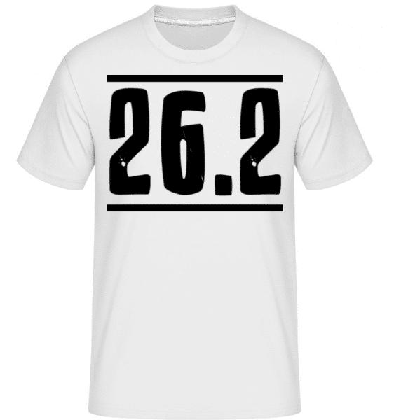 Marathon Miles -  Shirtinator Men's T-Shirt - White - Front
