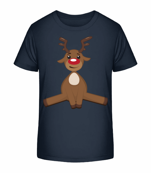 Christmas Deer - Kid's Premium Bio T-Shirt - Navy - Front