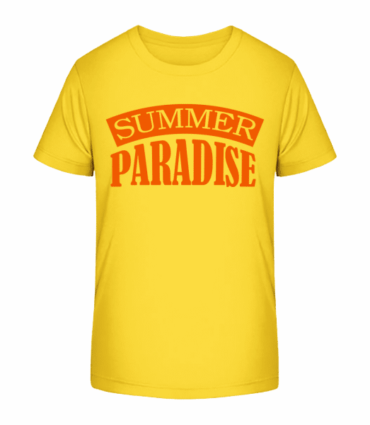 Summer Paradise Orange - Kid's Premium Bio T-Shirt - Yellow - Vorn
