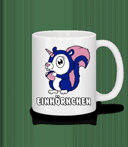 Einhörnchen - Tasse - Weiß - Vorn