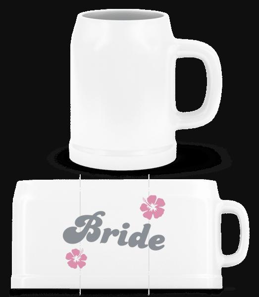 Bride - Beer Mug - White - Front
