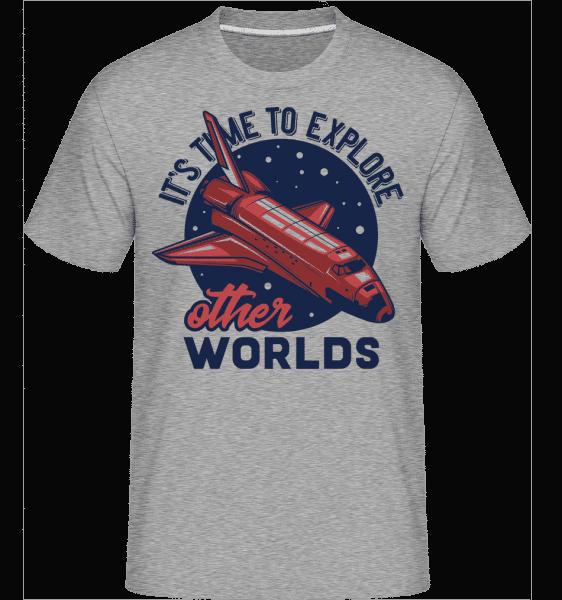 Its Time To Explore -  Shirtinator Men's T-Shirt - Heather grey - Vorn