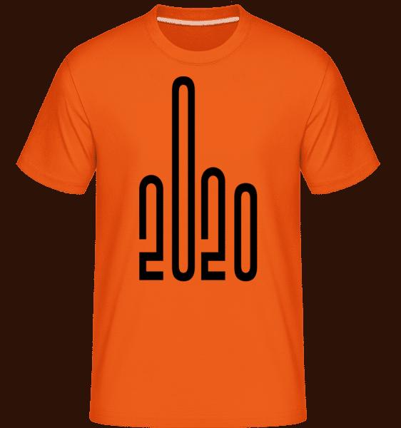 2020 Middle Finger -  Shirtinator Men's T-Shirt - Orange - Vorn