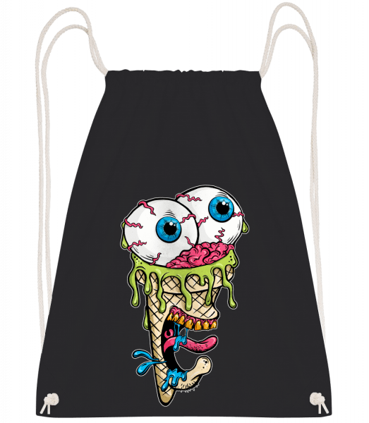 Horror Ice Cream - Drawstring Backpack - Black - Vorn