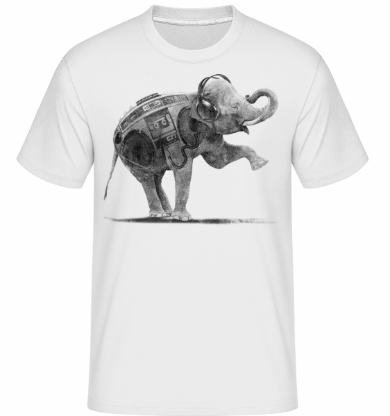Ghettoblaster Elephant -  Shirtinator Men's T-Shirt - White - Vorn