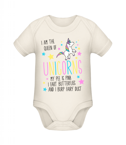 I'm The Queen Of Unicorns - Organic Baby Body - Cream - Vorn