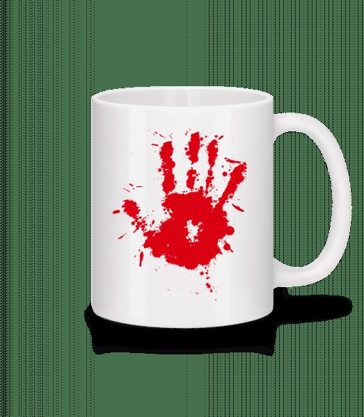 Handprint Blood - Mug - White - Vorn
