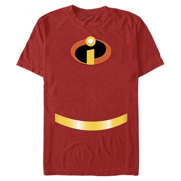Incredible Costume Mr. Incredible - Pixar Incredibles - Men's T-Shirt - Red - Front