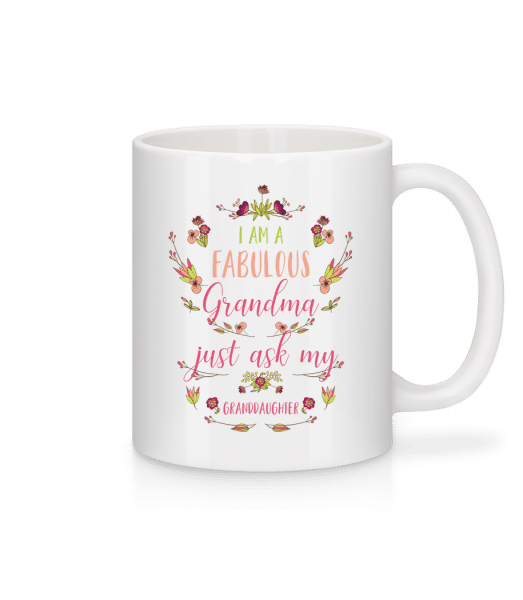 Som Faboulous babička - Keramický hrnček - Biela - Predné