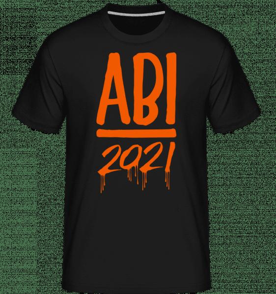 Abi 2021 Laufende Farben - Shirtinator Männer T-Shirt - Schwarz - Vorn