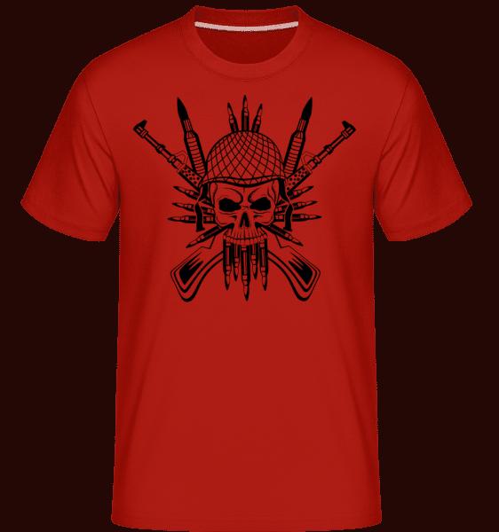 Soldier Skull Tattoo -  Shirtinator Men's T-Shirt - Red - Vorn