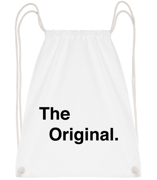 The Original - Drawstring Backpack - White - Vorn