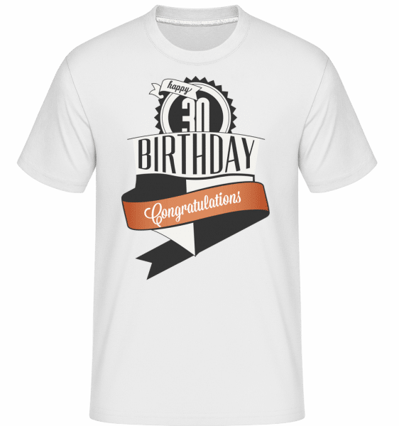 30 Birthday Congrats -  Shirtinator Men's T-Shirt - White - Vorn