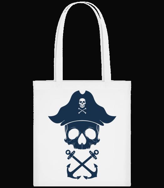 Piraten Totenkopf - Stoffbeutel - Weiß - Vorn