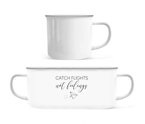 Catch Flights Not Feelings - Enamel-cup - White - Front