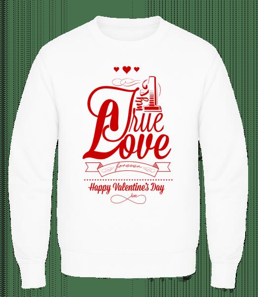 My True Love Valentine - Men's Sweatshirt AWDis - White - Vorn