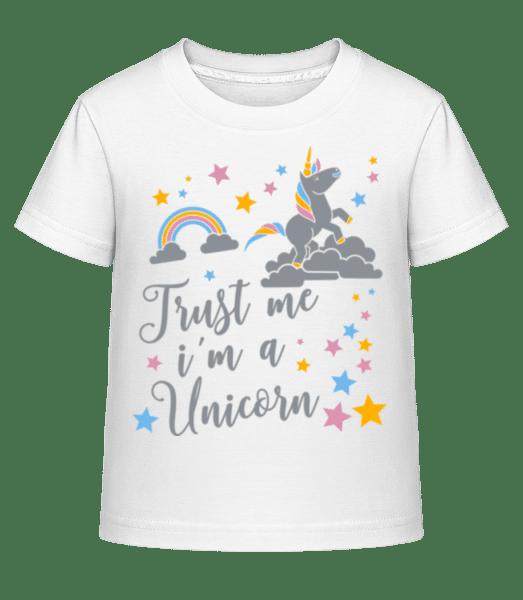 Věřte mi, že jsem Unicorn - Dĕtské Shirtinator tričko - Bílá - Napřed