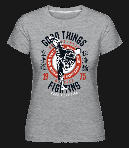 Karate Division -  Shirtinator Women's T-Shirt - Heather grey - Vorn