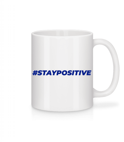 Staypositive - Tasse - Weiß - Vorn