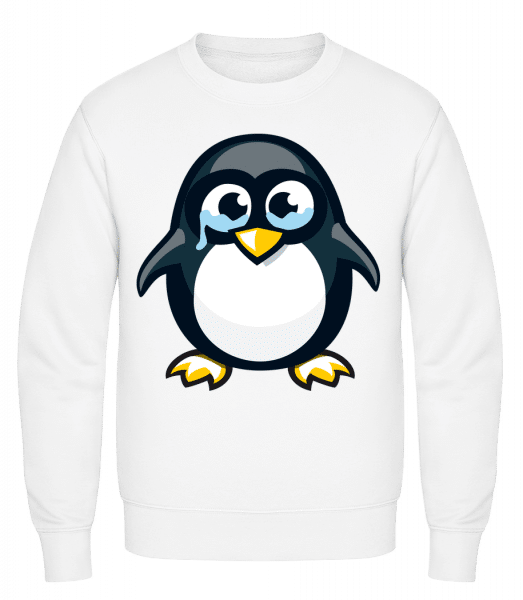 Sad Penguin - Classic Set-In Sweatshirt - White - Vorn