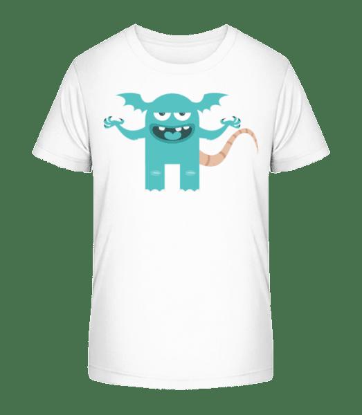 Funny Monster - Kid's Premium Bio T-Shirt - White - Vorn