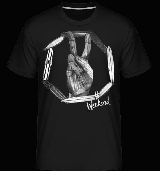 Weekend Peace -  T-Shirt Shirtinator homme - Noir - Vorn