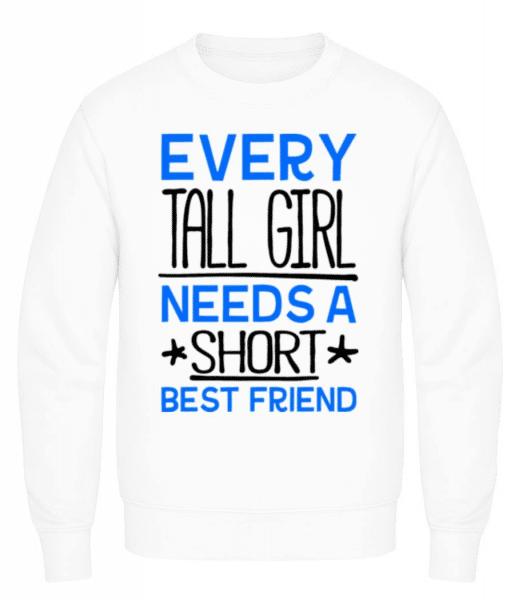 A Short Best Friend - Men's Sweatshirt - White - Front