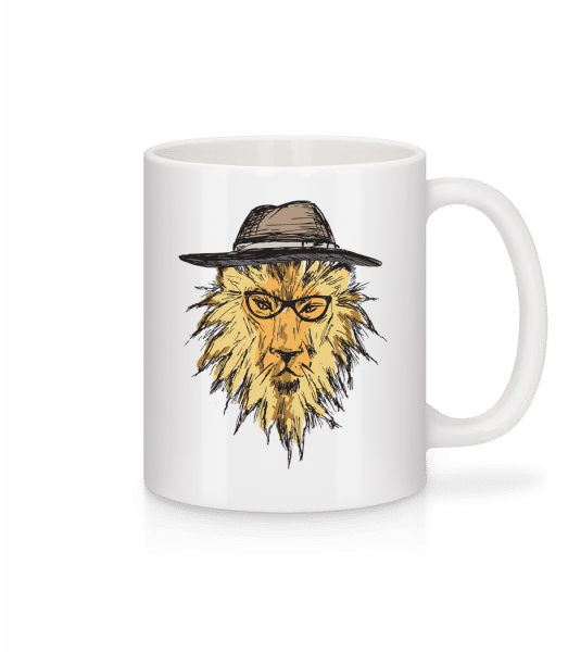 Lion With Hat - Mug - White - Front