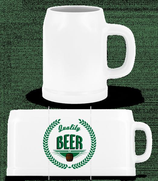 Quality Beer Logo - Beer Mug - White - Front