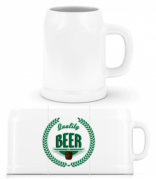 Quality Beer Logo - Bierkrug - Weiß - Vorn