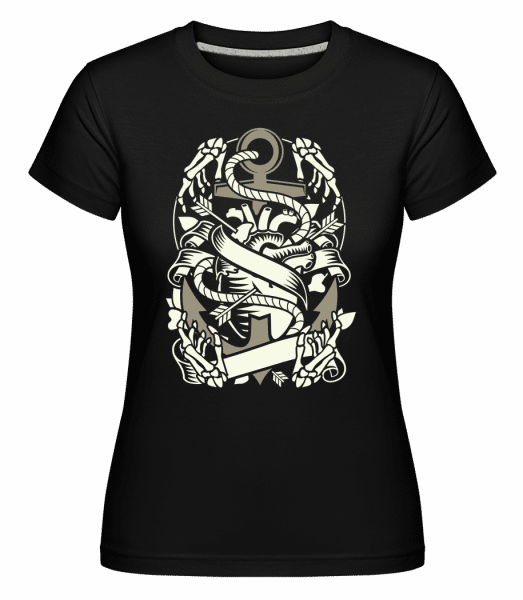 Heart And Anchor  -  Shirtinator Women's T-Shirt - Black - Vorn