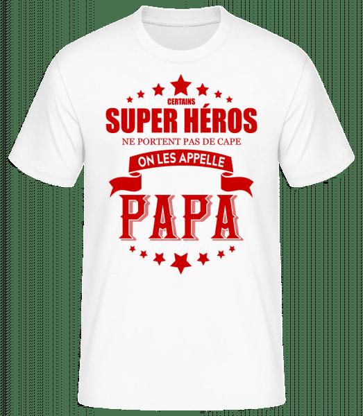 Super Héros Sans Cape - T-shirt standard Homme - Blanc - Vorn