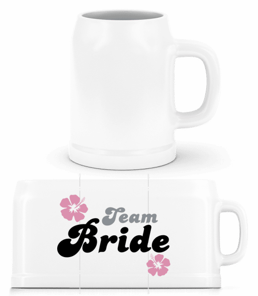 Team Bride - Beer Mug - White - Vorn