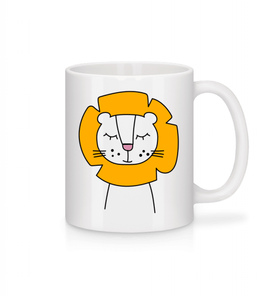 Putziger Löwe - Tasse - Weiß - Vorn